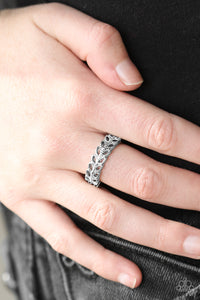 Featuring a slightly raised center, three shimmery silver bars coalesce into a dainty band. Rows of glassy white rhinestones are encrusted along the band, adding a refined finish to the classic palette. Features a dainty stretchy band for a flexible fit.  Sold as one individual ring.  Always nickel and lead free.