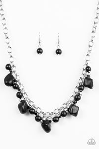 Paparazzi Paleo Princess Black Necklace Set