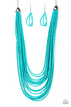 Load image into Gallery viewer, Paparazzi Peacefully Pacific Blue Necklace Set