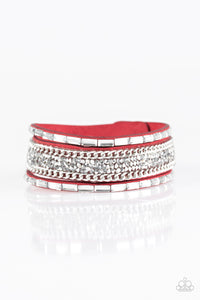 Paparazzi Punk Princess Red Wrap Bracelet