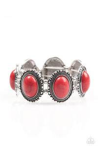 Paparazzi RANCH Out Red Silver Bracelet