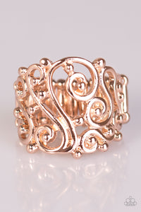 Paparazzi REGAL Advice Rose Gold Ring