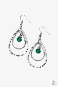 REIGN On My Parade Green Earrings - Paparazzi