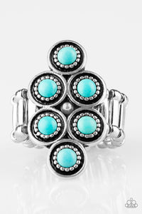 Paparazzi River Rock Rhythm Blue Ring