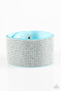 Paparazzi Roll With The Punches Blue Wrap Bracelet