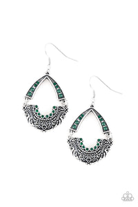 Paparazzi Royal Engagement Green Earrings