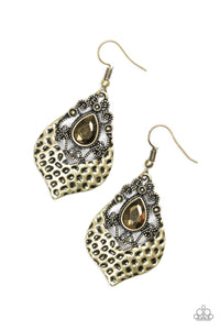 Paparazzi Royal Rebel Brass Earrings