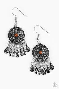 Paparazzi Sahara Sunsets Brown Earrings