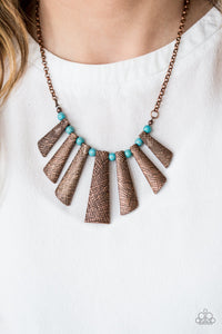 Paparazzi Sassy Stonehenge Copper Necklace Set