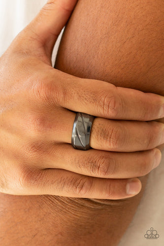 Paparazzi Sideswiped Black Men's Ring