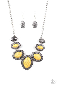 Paparazzi Sierra Serenity Yellow Necklace Set