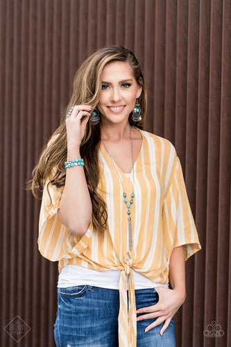 Earthy, desert-inspired designs are what the Simply Santa Fe collection is all about. Natural stones, indigenous patterns, and vibrant colors of the Southwest are sprinkled throughout this trendy collection. Includes one of each accessory featured in the Simply Santa Fe Trend Blend in May's Fashion Fix: