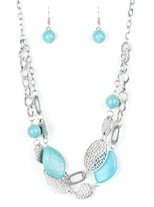 Paparazzi Second Nature Blue Necklace Set