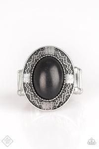 Paparazzi Tribe Trend Black Stone Ring