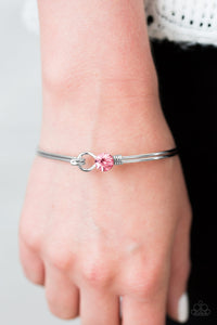 Sparkle On Fleek Pink Bracelet