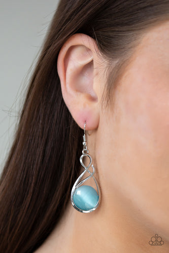 Paparazzi Swept Away Blue Earrings