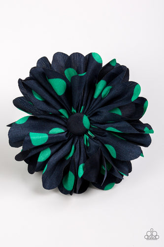 Tea Party Posh Blue and Green Hair Clip