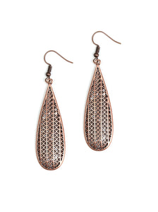 Paparazzi Terra Tears Copper Earrings