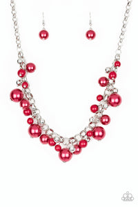 Paparazzi The Upstater Red Necklace Set