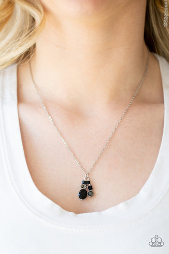 Paparazzi Time To Be Timeless Black Necklace Set