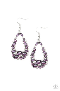 Paparazzi To BEDAZZLE, Or Not To BEDAZZLE Purple Earrings