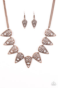 Paparazzi Triassic Triumph Copper Necklace Set