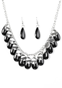 Paparazzi Tropical Storm Black Necklace Set