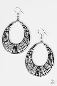 Paparazzi Tundra Texture Silver Earrings