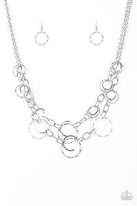 Paparazzi Urban Center Silver Necklace Set