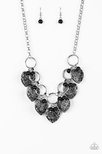 Paparazzi Very Valentine Black Necklace Set
