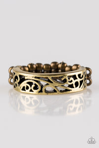 Paparazzi Wandering Wisteria Brass Ring