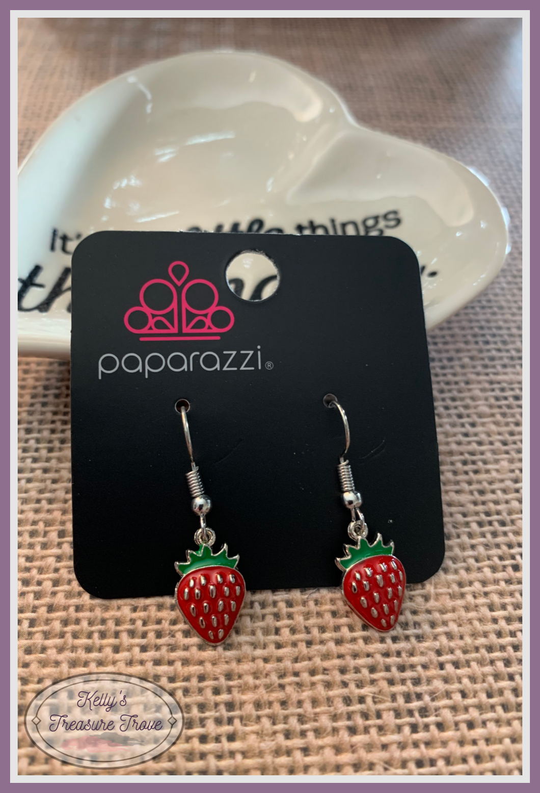 Paparazzi Starlet Shimmer Yummy Strawberry Earrings