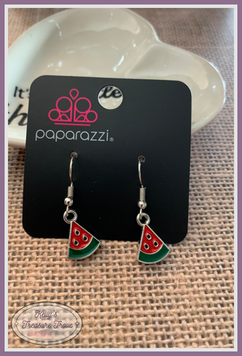 Paparazzi Starlet Shimmer Yummy Watermelon Earrings