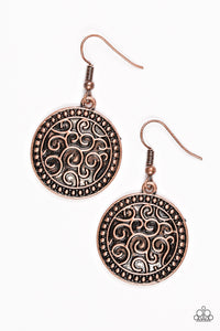 Paparazzi Whats VINE Is VINE Copper Earrings