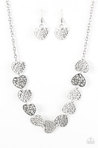 Paparazzi With My HOLE Heart Silver Necklace Set