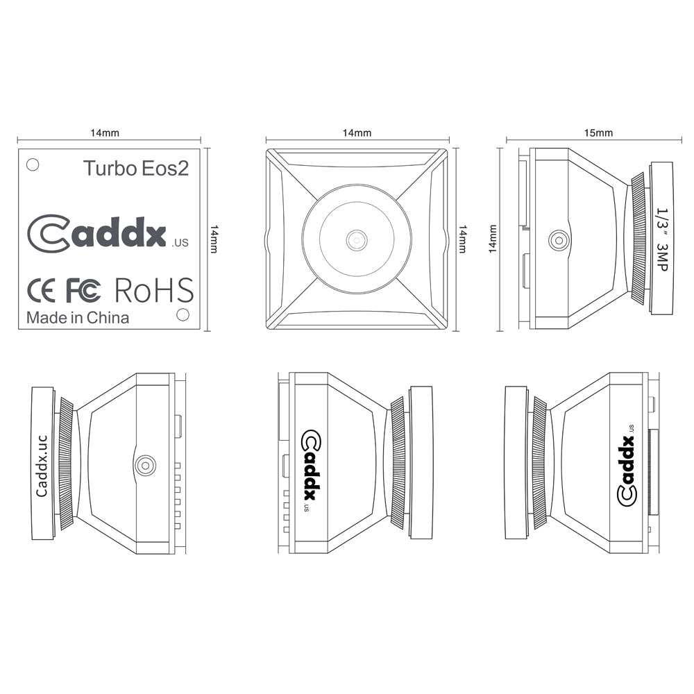 Caddx Turbo EOS-2 2.1mm 1200TVL FPV Camera Specs
