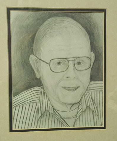 Pencil Drawing of Artists Father