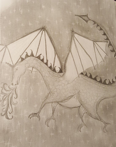 Pencil drawing of Dragon 2