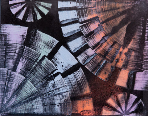 Abstract 141 Spray Paint on Canvas
