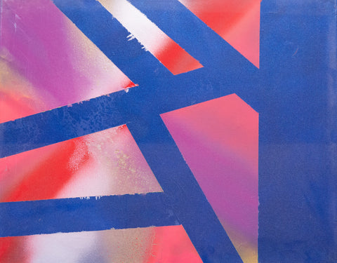 Abstract 164 Spray Paint on Canvas