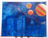 City 102 Spray Paint on Canvas