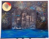 City 104 Spray Paint on Canvas