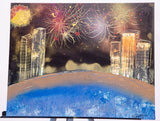 City 111 Spray Paint on Canvas Panel