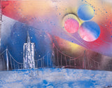City 114 Spray Paint on Canvas