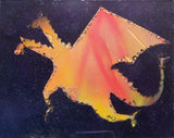 Dragon 101 Spray Paint on Canvas