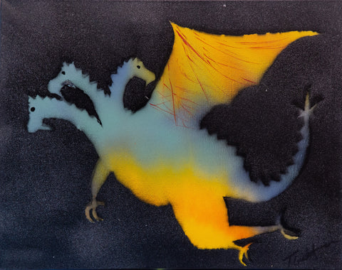Dragon 102 Spray Paint on Canvas