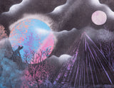 Night Sky 104 Spray Paint on Canvas