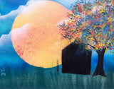 Sun 108 Spray Paint on Canvas