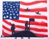 USA 101 Spray Paint on Canvas