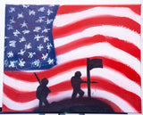 USA 102 Spray Paint on Canvas